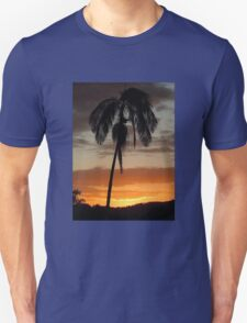 Sunset and a Palm Tree Unisex T-Shirt