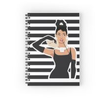 Breakfast with Audrey  Spiral Notebook