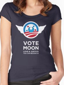 Moon President Power Women's Fitted Scoop T-Shirt