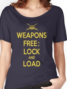Weapons Free: Lock N Load Women's Relaxed Fit T-Shirt
