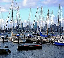 Melbourne across the Bay from Williamstown, Vic. by EdsMum