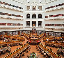 Reading Room State Library of Victoria Australia by PhotoJoJo