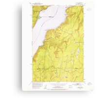USGS Topo Map Washington State WA Holly 241553 1953 24000 Canvas Print