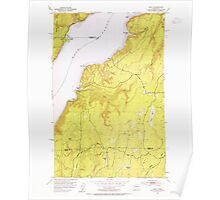 USGS Topo Map Washington State WA Holly 241553 1953 24000 Poster