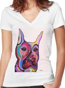 DOBERMAN Women's Fitted V-Neck T-Shirt