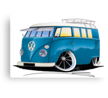 VW Splitty (11 Window) J Canvas Print