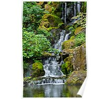 Cascading Toward the Pond Poster