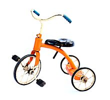 Orange Trike by Mark Piovesan