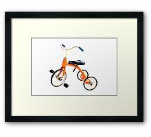 Orange Trike Framed Print