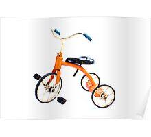 Orange Trike Poster