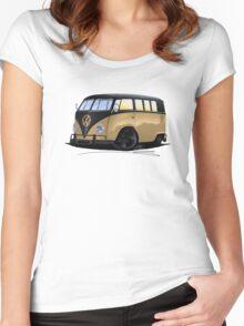 VW Splitty (11 Window) L Women's Fitted Scoop T-Shirt