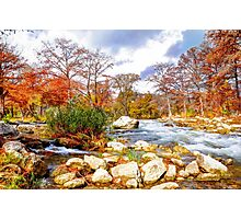 Along The River In Fall Photographic Print
