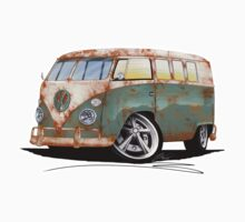 VW Splitty (11 Window) O by Richard Yeomans