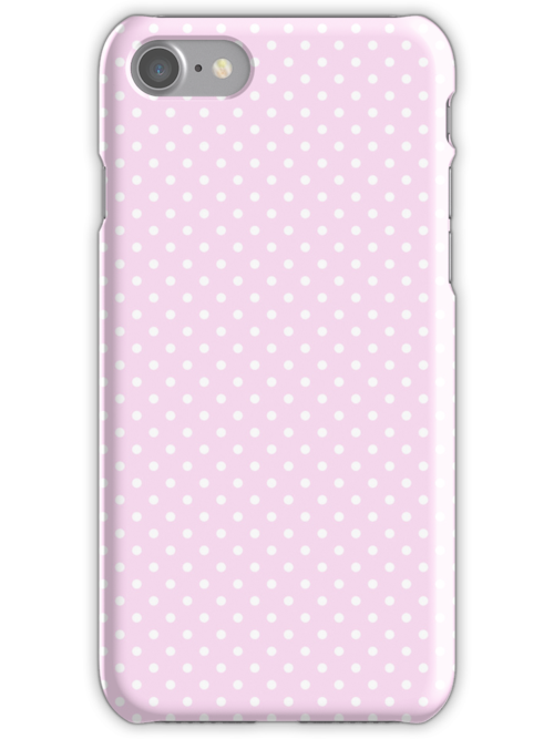 Pink & White Polkadot Seamless Pattern by artonwear