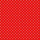 Red & White Retro Polkadot Pattern by artonwear