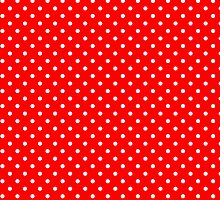 Red & White Retro Polkadot Pattern by artonwear