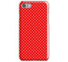 Red & White Retro Polkadot Pattern iPhone Case/Skin