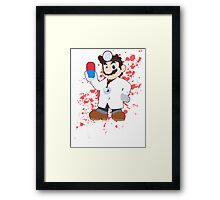 Dr Mario - Super Smash Bros Framed Print