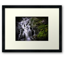 Cascading Waterfall Framed Print