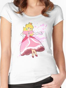 Peach - Super Smash Bros Women's Fitted Scoop T-Shirt