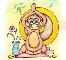 Namaste Monkey by AdrienneAllen