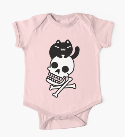 Cat And Crossbones One Piece - Short Sleeve
