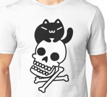 Cat And Crossbones Unisex T-Shirt