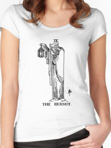 The Hermit Tarot Card Women's Fitted Scoop T-Shirt