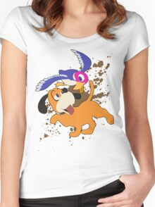 Duck Hunt Duo - Super Smash Bros Women's Fitted Scoop T-Shirt