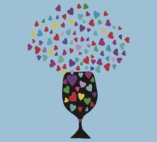 ۞»♥Drink Love: A Glass of Romantic Hearts Clothing & Stickers♥«۞ T-Shirt