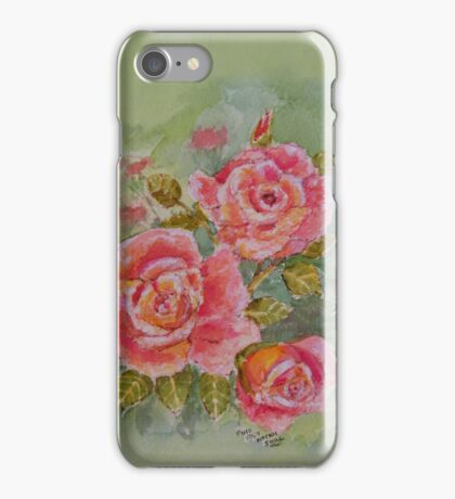 PINK POSY  PHONE CASE  BLANK/ADD A TEXT iPhone Case/Skin