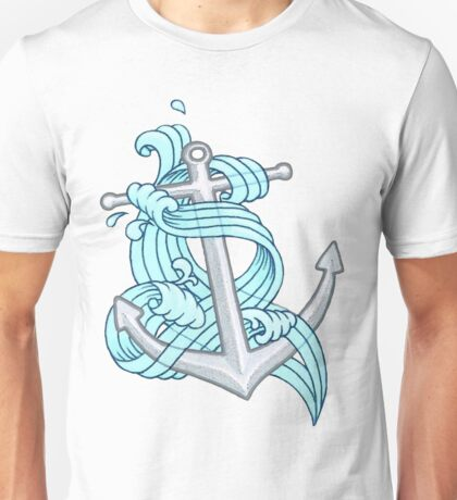 Ocean Wave Anchor Unisex T-Shirt