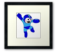 Megaman Retro 8-Bit Geek Smoothed Sticker Nerd Framed Print