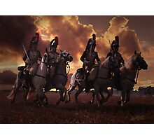 Four French Cuirassiers Photographic Print