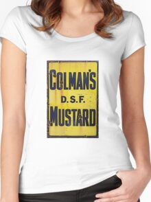 Condiments on a Sign  Women's Fitted Scoop T-Shirt