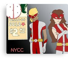 NYCC Competition Entry - RedBoy and BubbleGirl Metal Print