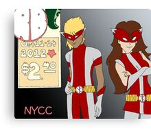 NYCC Competition Entry - RedBoy and BubbleGirl Canvas Print
