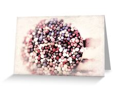 pink freckles Greeting Card