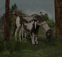 Painted Horse and Foal by DesignCadeautje