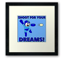"Megaman Retro Gamer ""Shoot For Your Dreams"" Geek Aspiring Nerd Framed Print"