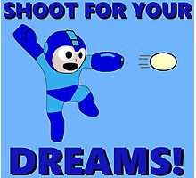 """Megaman """"Shoot For Your Dreams"""" Photographic Print"""