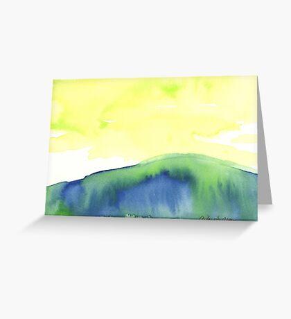 Blue Landscape Greeting Card