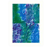 Brush Stroke Blue Art Print