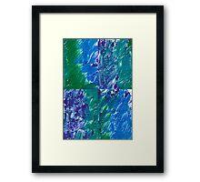 Brush Stroke Blue Framed Print