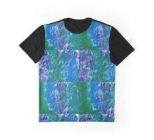 Brush Stroke Blue Graphic T-Shirt