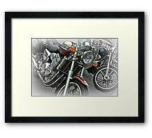Bikers bikes  Framed Print