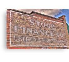 Stoop Finance Canvas Print