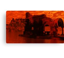Appolonia Ruins at Sunset Canvas Print