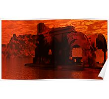 Appolonia Ruins at Sunset Poster