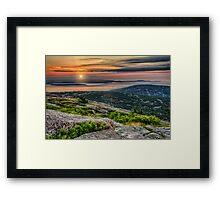 Cadillac Mountain Sunrise Framed Print